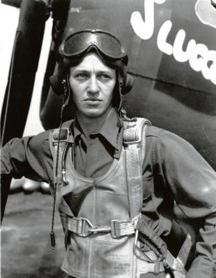 Wartime: Russ Kyler as a young pilot