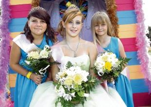 Carnival queen Charleigh Chatterton, with princesses Jodie Mole and Jessica Lambert.