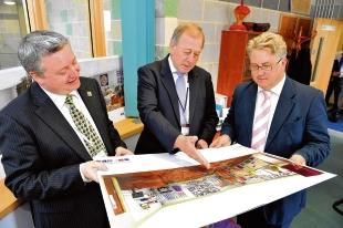 Plans – Stephen Chamberlain, Essex County Council leader Peter Martin and deputy leader Kevin Bentley