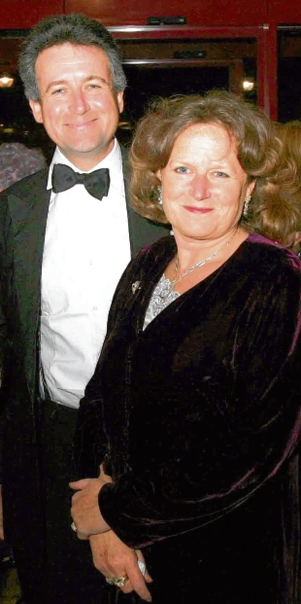 Anne Jenkin with husband Bernard