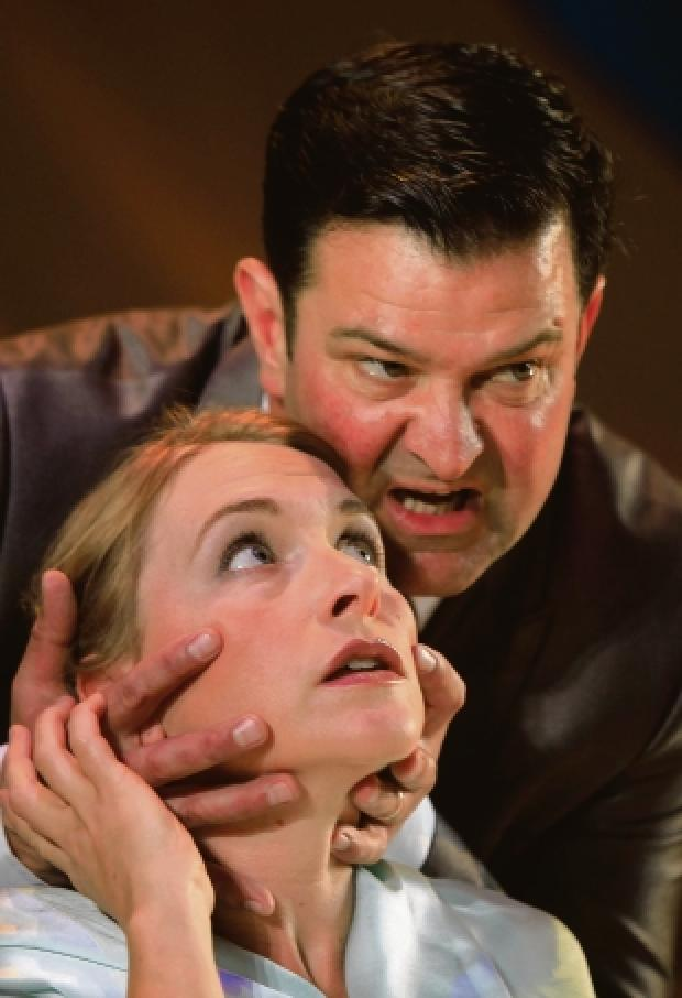 Up close: Nadia Morgan and Tim Treslove in The Winter's Tale. (CO49904-61)