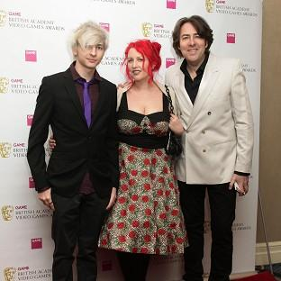 Jonathan Ross, his wife Jane Goldman and their son Harvey arriving at the GAME British Academy Video Games Awards at The London Hilton