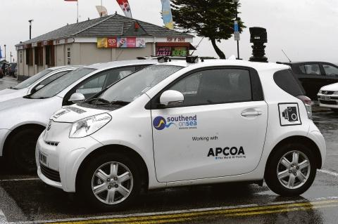 A CCTV car in Southend