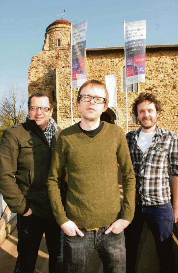 Ben Howard, Andy Winmill and Marc De'ath at Colchester Castle