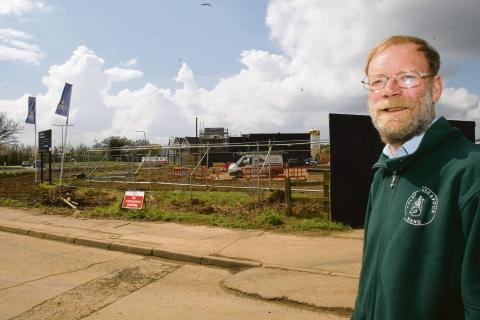 Myland Community Council chairman Robert Johnstone at the Severalls site