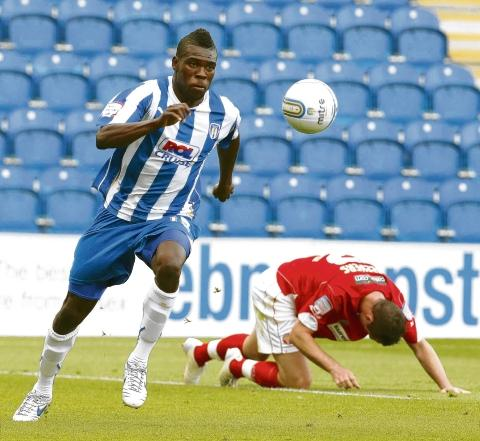 Staying put? Kayode Odejayi has been offered the chance to remain at Colchester United beyond this season. Picture: STEVE BRADING (CO46510-52)
