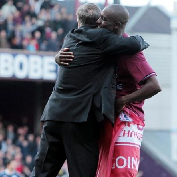 Sam Allardyce (left) and Carlton Cole