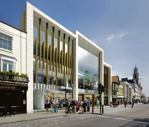 Artist's impression – the planned new frontage of Williams and Griffin