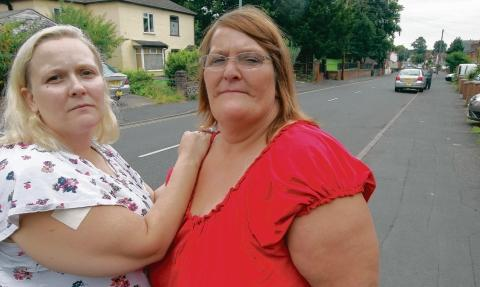 Shocked – Debbie Pratchett, who was injured in a hit and run crash outside her daughter's house in Greenstead Road, with her daughter Yvonne