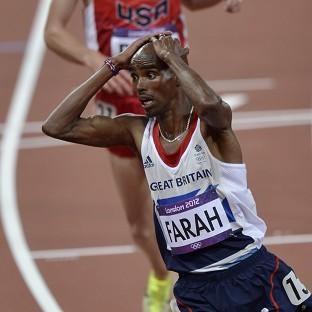 Mo Farah wins gold ahead in the men's 10,000m final (AP/Martin Meissner)