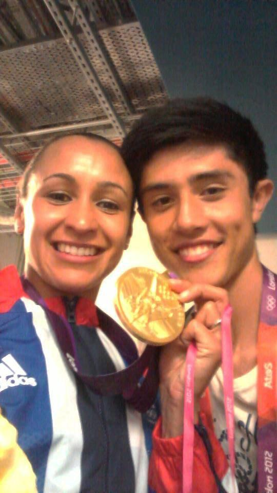 Dom Nolan meets his hero Jessica Ennis