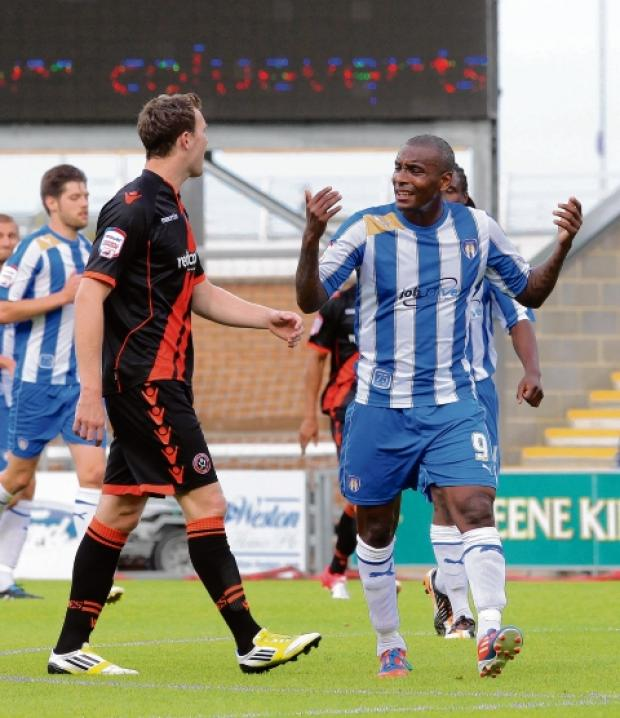 New challenge - Clinton Morrison is enjoying life at Colchester United. Picture: ADRIAN RUSHTON