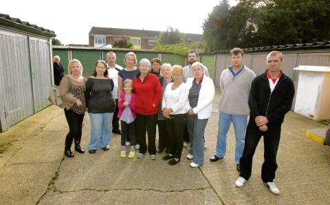 Angry - residents says losing their garages will leave them with nowhere to park