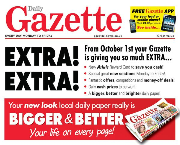 Your Gazette will be bigger and better from Monday