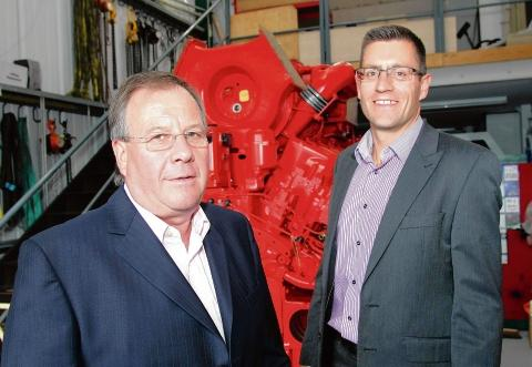 Big plans – Gerald Barnett, managing director, and Paul Bleck, director, at Bartech Marine's current base in West Mersea. The firm is moving to the Hythe