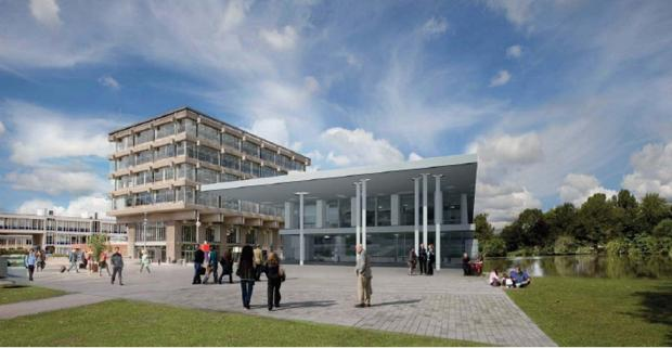 Architects' impression of the £26million student centre