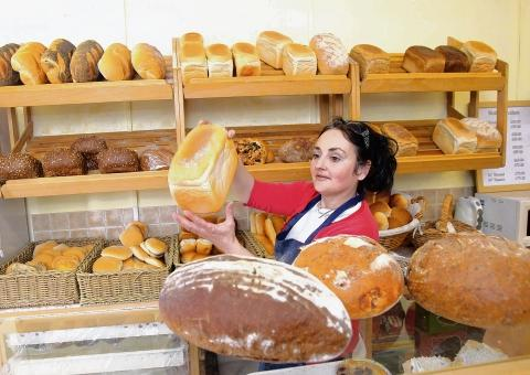Good food: Sarah Turner, sales assistant at Blackberry Bakery in Stanway, with a selection of bread