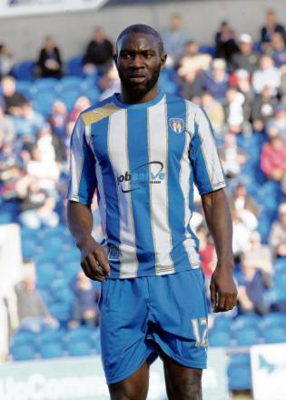 New arrival? Jabo Ibehre is set to seal a permanent move to Colchester United.