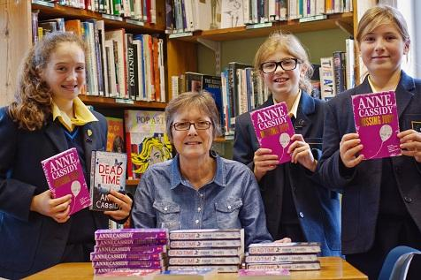 Year Seven pupils Zoe Tarrant, Anne Cassidy, Madison Young and Rosa Allison with Anne Cassidy.
