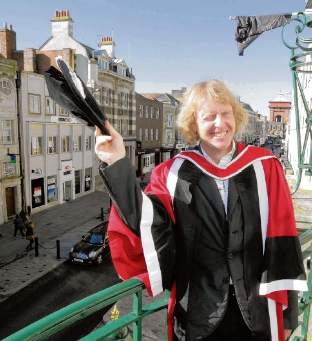 Turner Prize winner Grayson Perry is awarded an honorary doctorate by Colchester Institute.