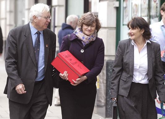 Gazette reporter Wendy Brading, Colchester MP Sir Bob Russell and campaigner Jackie McCord