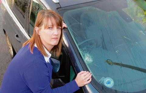 Terror for family as rocks thrown at cars on A120