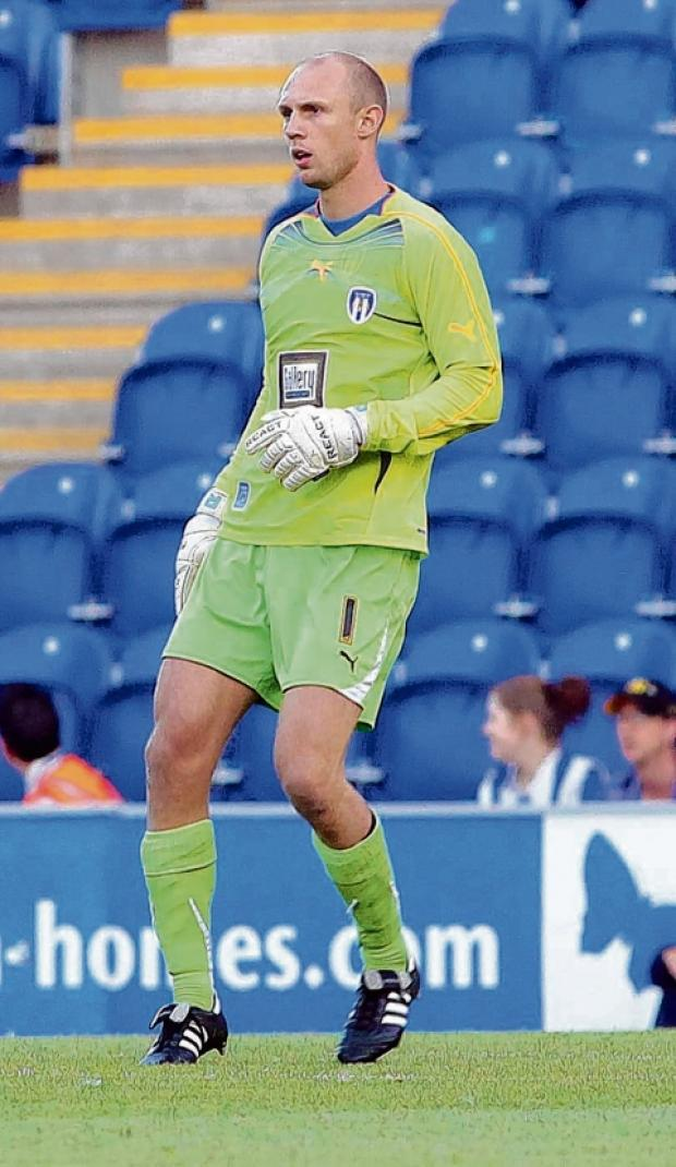 Up for the cup - U's goalkeeper Mark Cousins is hoping that Colchester play his home town club Chelmsford City in the FA Cup.
