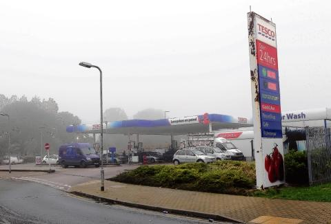 Burglars targeted the Tesco petrol station at Brook Retail Park, Clacton, on Sunday