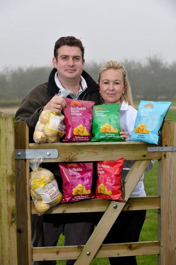Robert and Laura Strathern of Fairfields Farm were crowned the best local supplier of the year