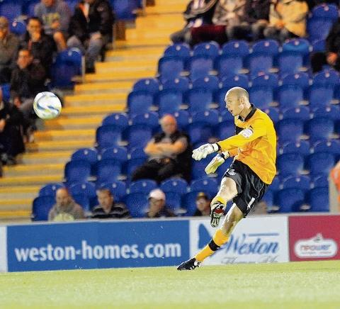 Focused - U's keeper Mark Cousins is concentrating on helping his side progress in the FA Cup at the expense of his home town club Chelmsford City.