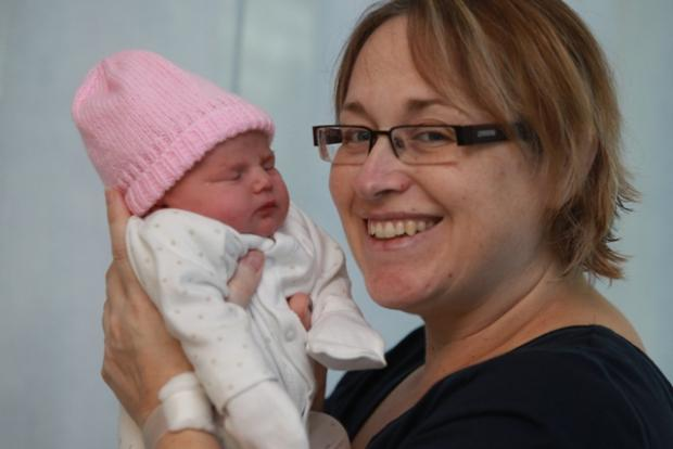 Little miracle: Lilia with mum Carol Shorter