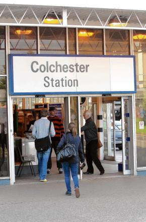 Passengers at Colchester North station, who faced higher fares from today.