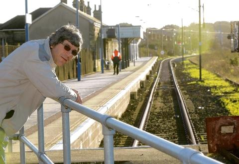 Rail passenger Paul Turvey at Harwich Town train station