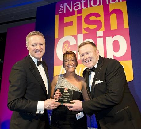Owner David Henley and partner Lisa collected their regional award at the event from host Rory Bremner.