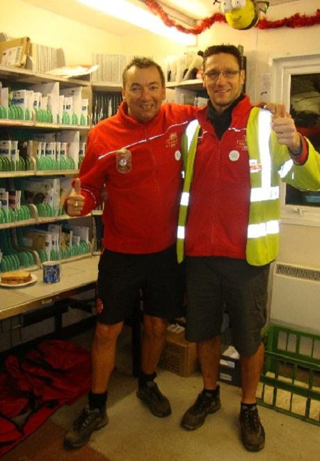 First Class - Postmen brave the cold in shorts for entire year
