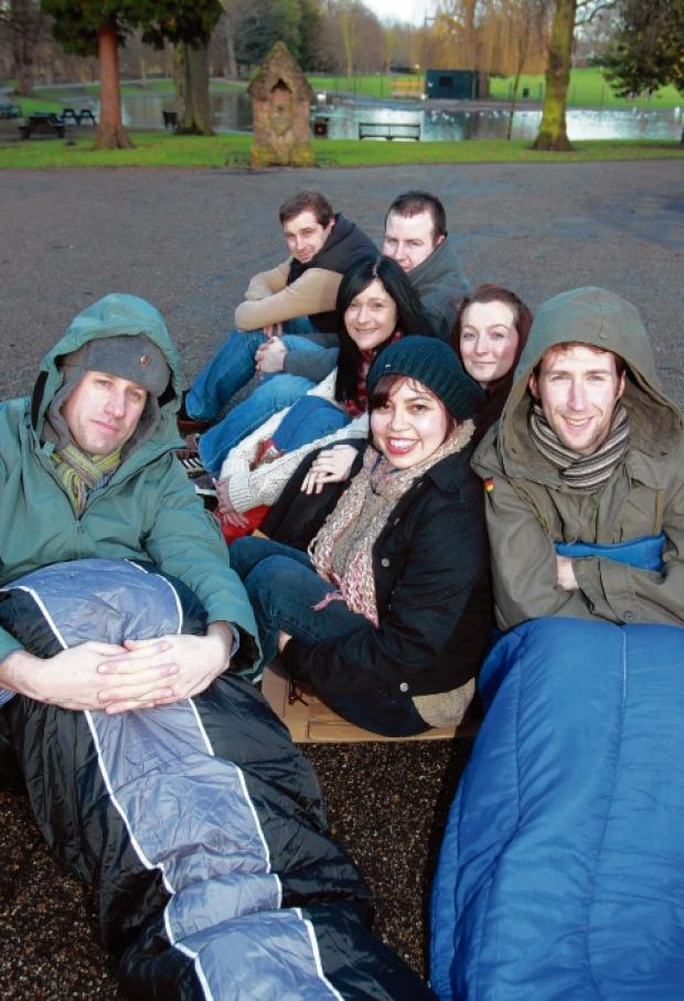 Probation officers brave the cold for homeless charity