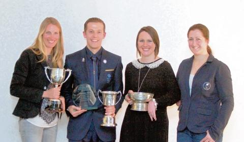 Essex County Standard: Olympians Saskia Clark and Dominic King along with Paralympians Natalie Jones and Hannah Stodel were honoured at the Sport Colchester 2012 Sports Personality Awards