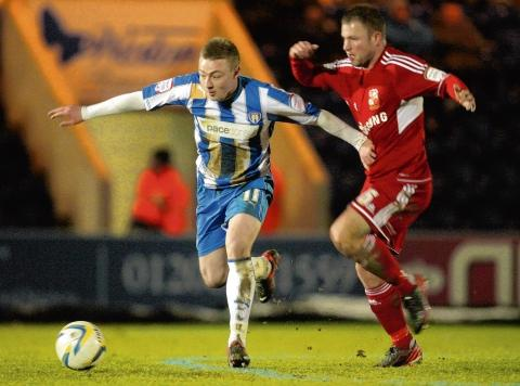 Empty-handed - Freddie Sears and his Colchester United team-mates came away from their match at Sheffield United with a 3-0 defeat.