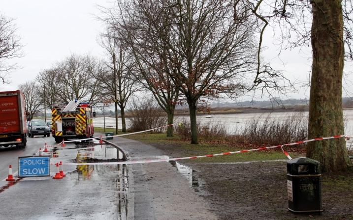 Firefighters contain diesel spill by river