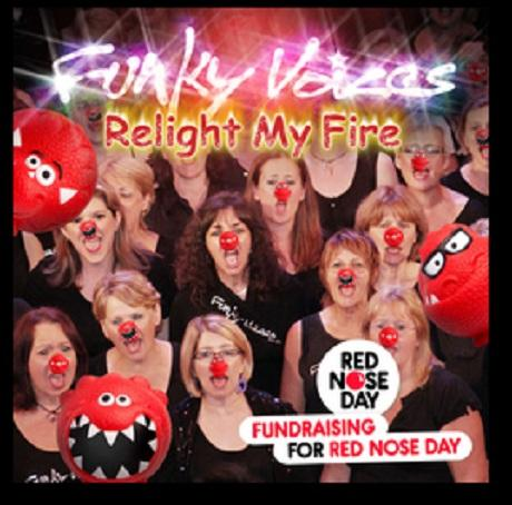 Funky Voice choir on-song for Red Nose Day single