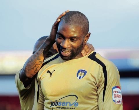 Infectious - Jabo Ibehre is a popular member of the Colchester United side. Picture: WARREN PAGE
