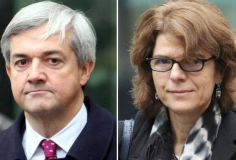Former cabinet minister Chris Huhne and his ex-wife Vicky Pryce.