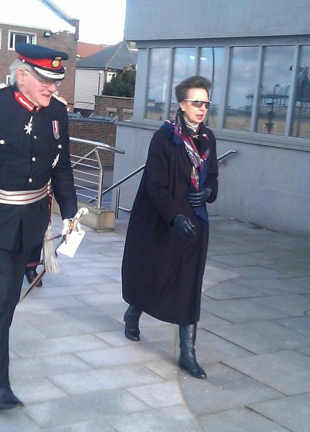 Princess Anne visits Harwich