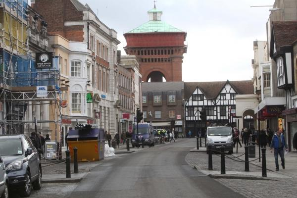 Colchester High Street with no cars