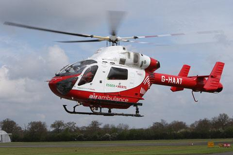Air ambulance called to Marks Tey