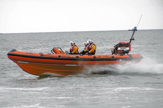 Essex County Standard: RNLI rescue two stuck on capsized dinghy