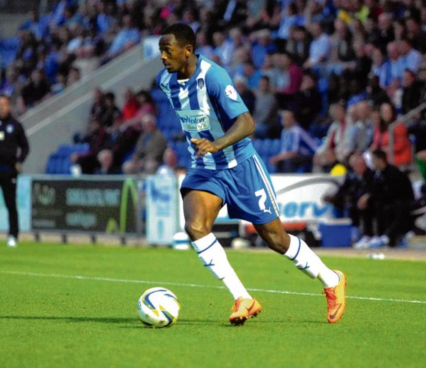 Essex County Standard: Marching orders - Sanchez Watt was sent off on his birthday for Colchester at Swindon.