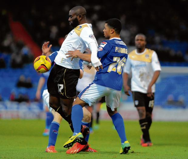 Old haunt - Colchester United strike Jabo Ibehre returned to his former club Leyton Orient.