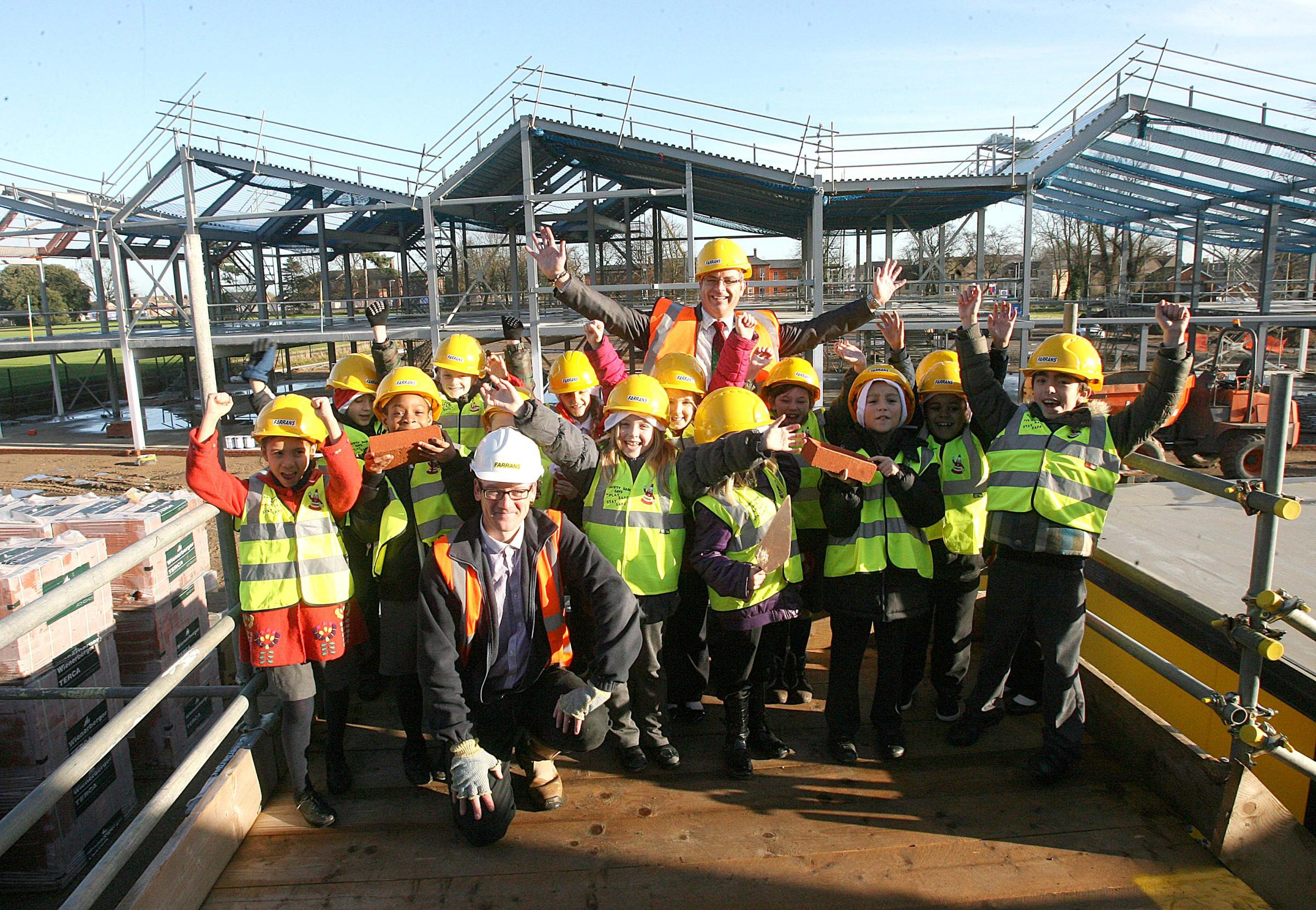 Youngsters get tour of their new £6 million school campus