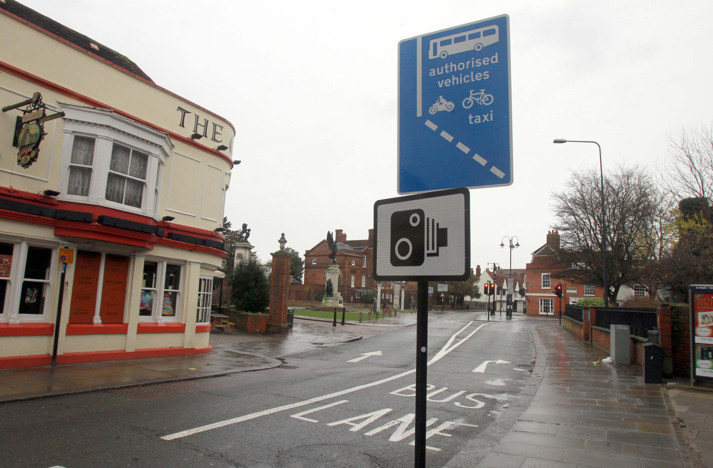 The bus lane in Colchester High Street is set to be made clearer.